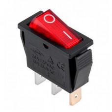 Выключатель красный с индикаторной лампой узкий