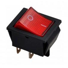Выключатель красный с индикаторной лампой